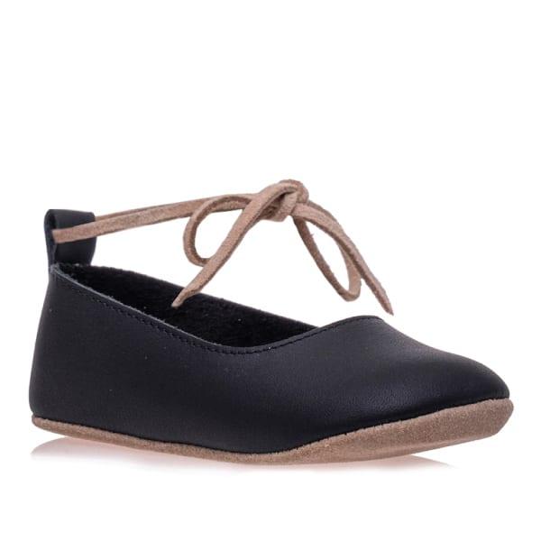 Merli&Rose Deri Bebek Bağcıklı Ayakkabı Siyah 2