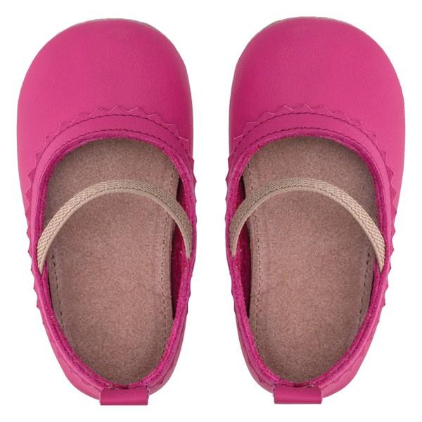 Merli&Rose Deri Bebek Babet Ayakkabı Fuşya 3