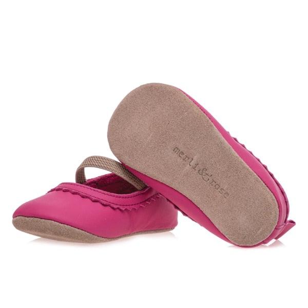 Merli&Rose Deri Bebek Babet Ayakkabı Fuşya 4