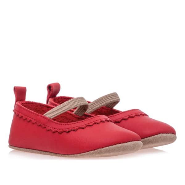 Merli&Rose Deri Bebek Babet Ayakkabı Kırmızı 2