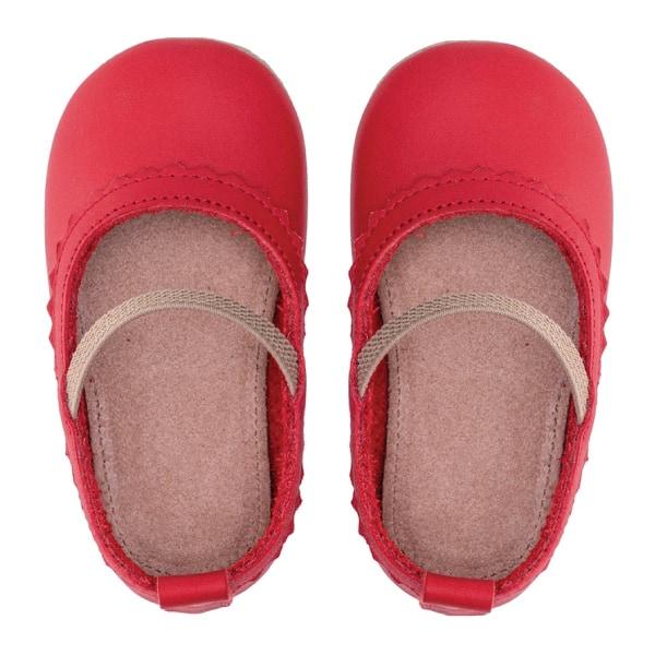 Merli&Rose Deri Bebek Babet Ayakkabı Kırmızı 3