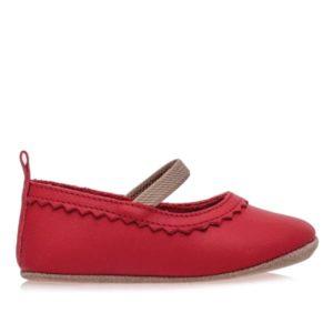 Merli&Rose Deri Bebek Babet Ayakkabı Kırmızı