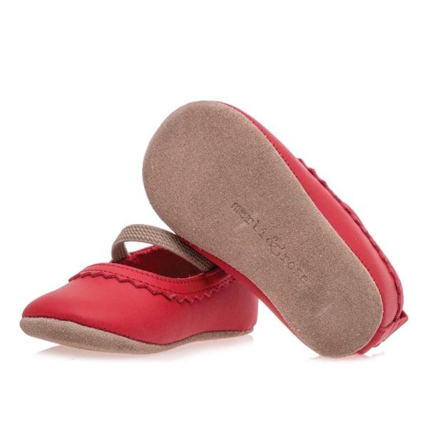 Merli&Rose Deri Bebek Babet Ayakkabı Kırmızı 4