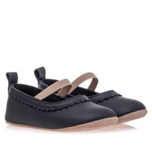 Merli&Rose Deri Bebek Babet Ayakkabı Siyah 2