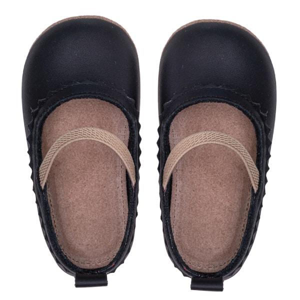 Merli&Rose Deri Bebek Babet Ayakkabı Siyah 3