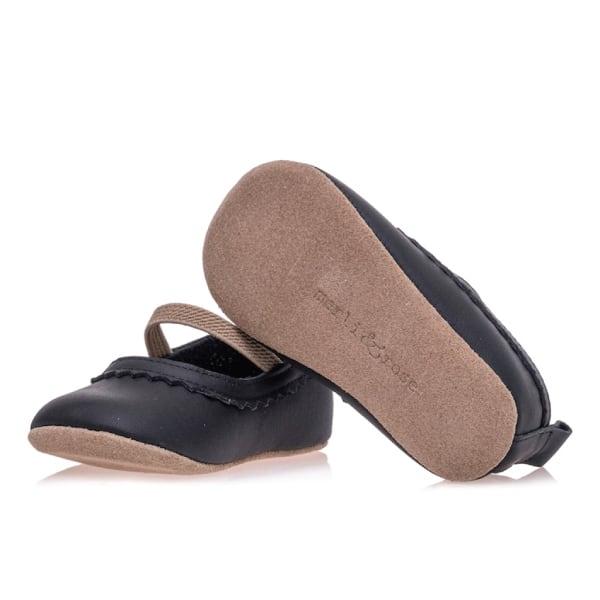 Merli&Rose Deri Bebek Babet Ayakkabı Siyah 4