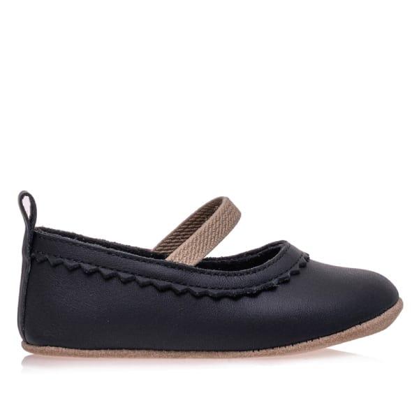 Merli&Rose Deri Bebek Babet Ayakkabı Siyah