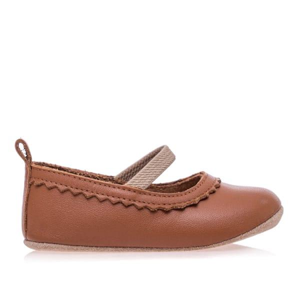Merli&Rose Deri Bebek Babet Ayakkabı Taba