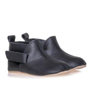Merli&Rose Deri Çift Bantlı Bebek Ayakkabı Siyah 2