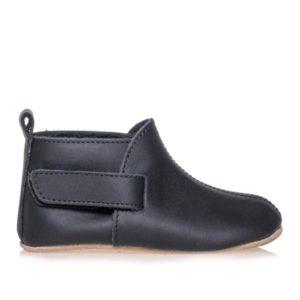 Merli&Rose Deri Çift Bantlı Bebek Ayakkabı Siyah