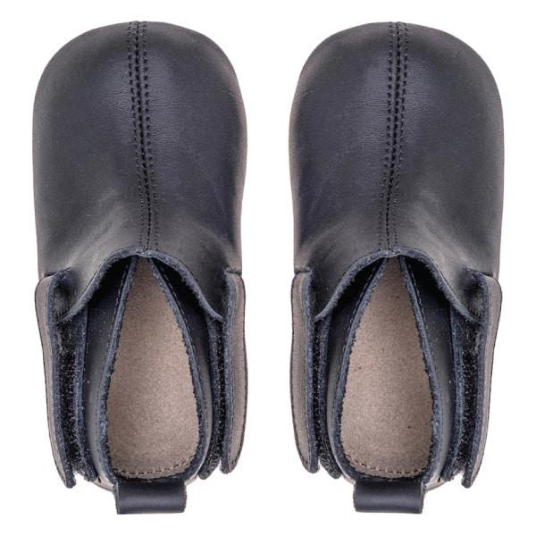 Merli&Rose Deri Çift Bantlı Bebek Ayakkabı Siyah 4