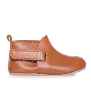 Merli&Rose Deri Çift Bantlı Bebek Ayakkabı Taba