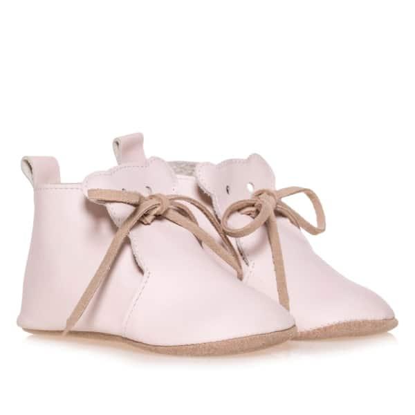 Merli&Rose Deri Teddy Bebek Ayakkabı Açık Pembe 2