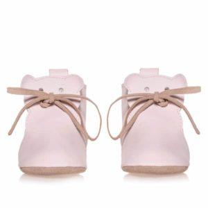Merli&Rose Deri Teddy Bebek Ayakkabı Açık Pembe