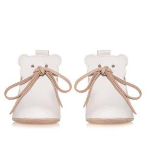 Merli&Rose Deri Teddy Bebek Ayakkabı Krem