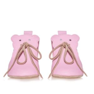 Merli&Rose Deri Teddy Bebek Ayakkabı Pembe