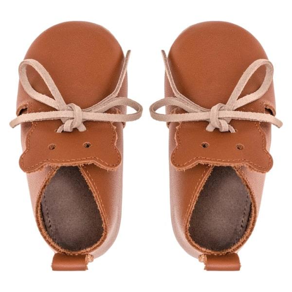 Merli&Rose Deri Teddy Bebek Ayakkabı Taba 4