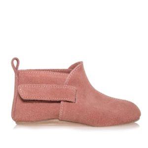 Merli&Rose Süet Çift Bantlı Bebek Ayakkabı Gül Kurusu