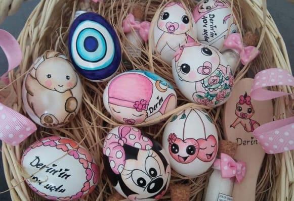 40 Uçurma Yumurta Süsleme