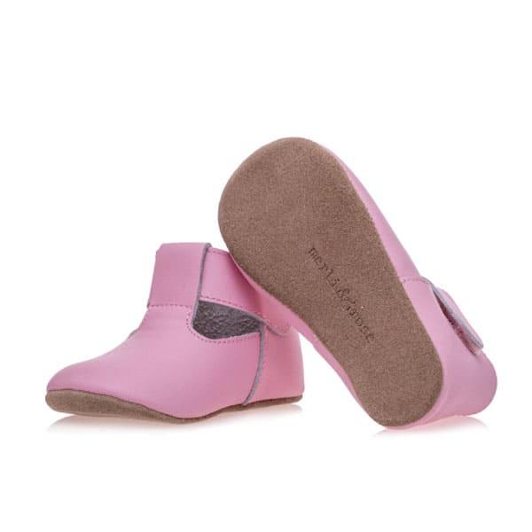 Merli&Rose Deri Cırtlı Bebek Ayakkabı (Pembe) 3