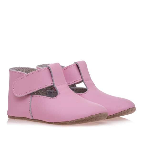 Merli&Rose Deri Cırtlı Bebek Ayakkabı (Pembe) 2