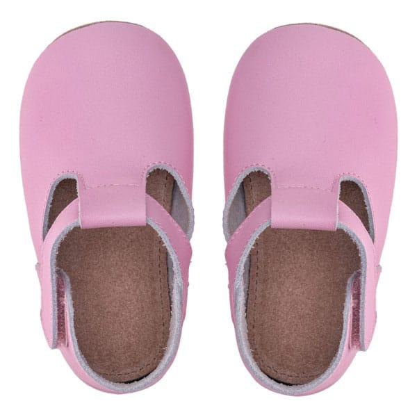 Merli&Rose Deri Cırtlı Bebek Ayakkabı (Pembe) 4