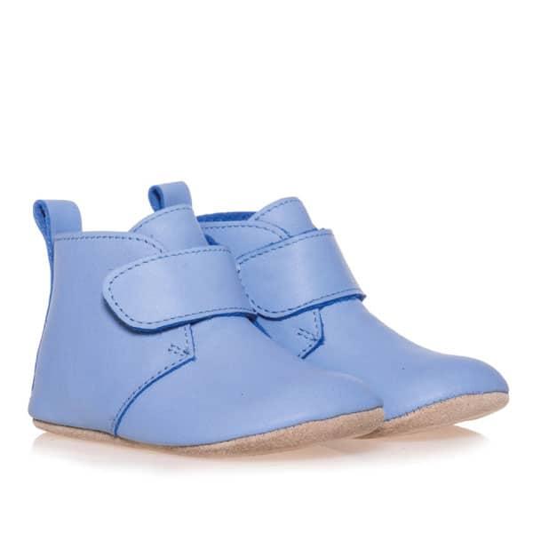 Merli&Rose Deri Cırtlı Bebek Bot Ayakkabı (Açık Mavi) 2
