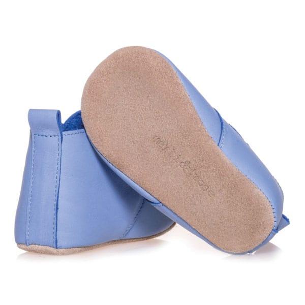 Merli&Rose Deri Cırtlı Bebek Bot Ayakkabı (Açık Mavi) 3
