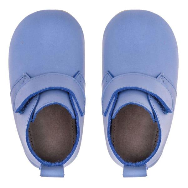 Merli&Rose Deri Cırtlı Bebek Bot Ayakkabı (Açık Mavi) 4
