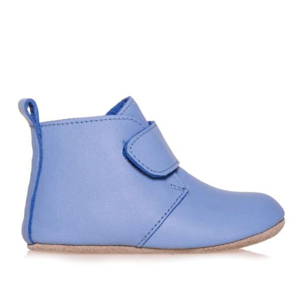 Merli&Rose Deri Cırtlı Bebek Bot Ayakkabı (Açık Mavi)