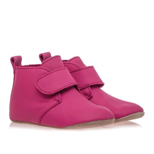 Merli&Rose Deri Cırtlı Bebek Bot Ayakkabı Fuşya 2