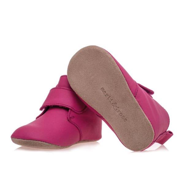 Merli&Rose Deri Cırtlı Bebek Bot Ayakkabı Fuşya 3