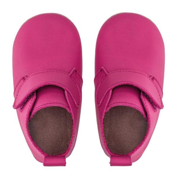 Merli&Rose Deri Cırtlı Bebek Bot Ayakkabı Fuşya 4