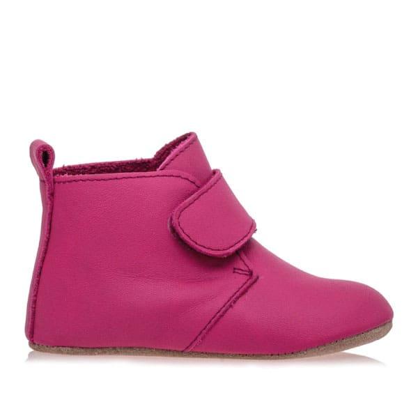 Merli&Rose Deri Cırtlı Bebek Bot Ayakkabı Fuşya
