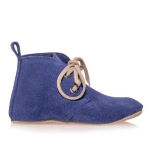 Merli&Rose Süet Oxford Bebek Ayakkabı Saks Mavisi