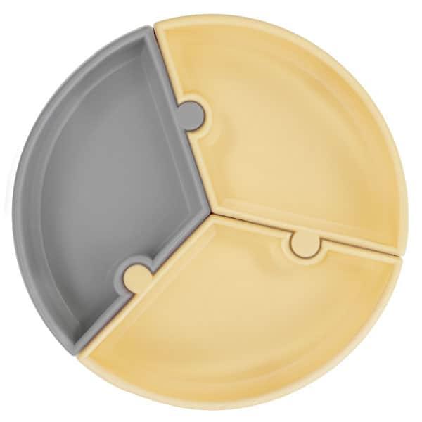 OiOi Puzzle Tabak Sarı/Gri