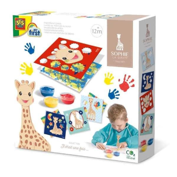 Sophie la Girafe Parmak Boyası Kartları